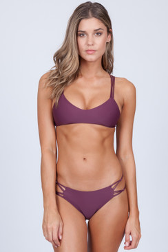 MIKOH Palm Beach Top in Wine