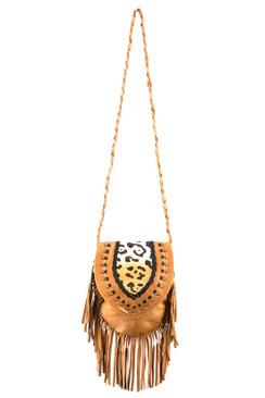 TREZO LAVI Jane Bag in Tan Cheetah