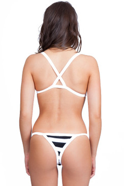 INDAH SWIMWEAR Dizzy Knit Bottom in Felon