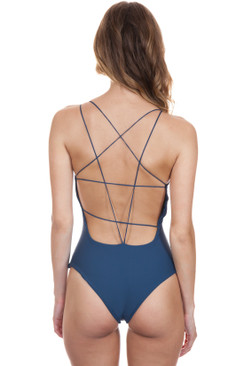 MIKOH Kilauea One Piece in Drop Off Blue
