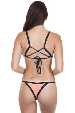 POSH PUA Kainalu Bottom in Sorbet/Black