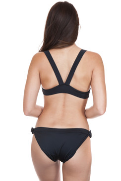 SOLID AND STRIPED Evelyn Black Bottom
