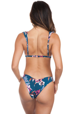 TORI PRAVER Mimi Sheered Cheeky Bottom in Indo Blue