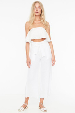 FAITHFULL THE BRAND Como Pants in Plain White