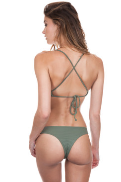 ISSA DE MAR Poema Bottom in Olive Rib