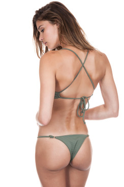 ISSA DE MAR Bondi Bottom in Olive Rib
