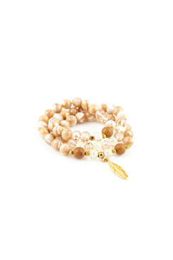 TREZO LAVI Shell Pearl Bead Bracelet