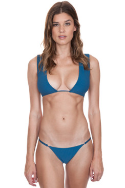 FRANKIES BIKINIS Shea Top in Deep Sea Blue