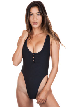 FRANKIES BIKINIS Adele One Piece in Black