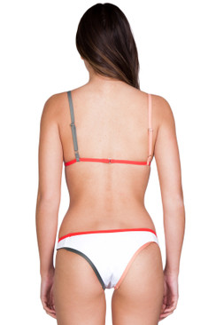 TAVIK Jayden Bottom in White/Hibiscus Color Block