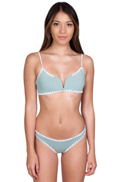 KOA SWIM Cabana Top in Sea/Bare