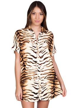 ACACIA Mombasa Shirt Dress in Tiger