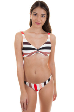 SOLID AND STRIPED Jane Top in Lipstick Stripe