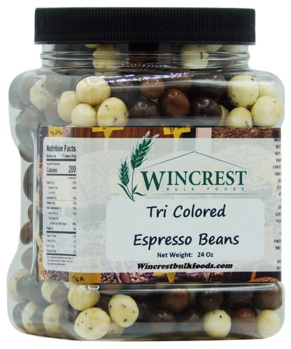 Tri Colored Espresso Beans - 1.5 Lb Tub