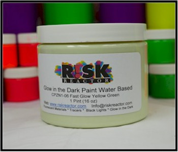 Pint of glow in the dark neon green water paints