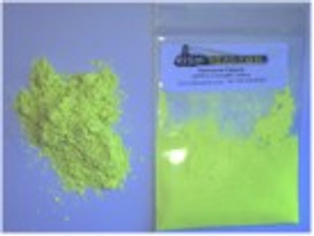 An Invisible Yellow Fluorescent Pigment.  Very strong yellow used in security inks. Use in low loadings for invisible coatings and high loadings for an intense invisible colorant. So strong of a pigment it is used as a dye or tracer.