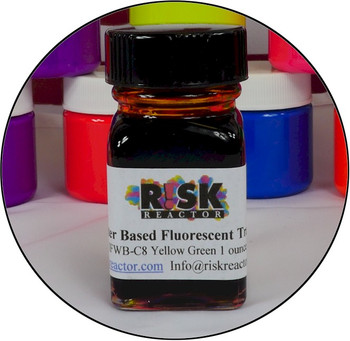 Black light reactive water dye to trace leaks and create strong UV inks.