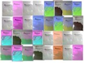 Complete fluorescent water and oil dyes for black light kit.