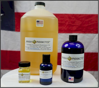 Set of nontoxic black light responsive inks used in prisons and other government facilities where nothing flammable can be used on the premises.