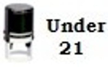 Under 21 Round Self Inking Stamper