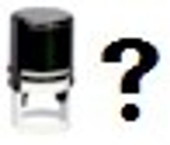 Self inking stamper with the question mark we call UV what