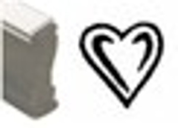 Heart shaped wooden stamp for black light reactive invisible inks