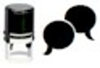 Blacklite reactive conversation stamper