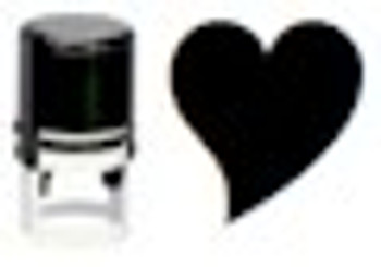Black light UV stamper in the shape of a heart used for hands or any porous surface.