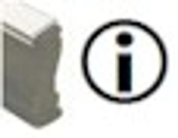 Information Walnut Handle Fluorescent Marking Stamp