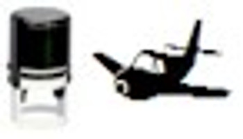 Propeller plane self inking blank stampers for any stamping black light ink