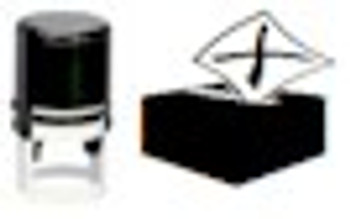 Ballot box blacklight stamper for IFWA series fluorescent inks