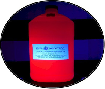 Glowing invisible UV red black light stamping inks.