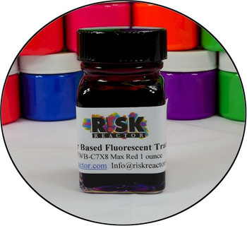 Black light reactive rhodamine red WT super strong concentrate that is NSF certified for drinking water.