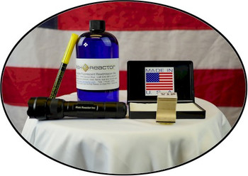 Super Max invisible ID kit with 2 ounces of ink and a black light ready to go now.
