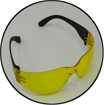 Top view of the uv light sunglasses ready for your NDT industrial applications
