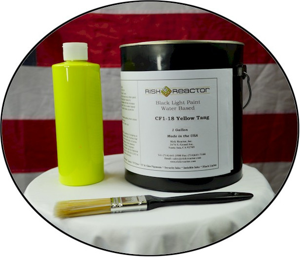 Black light yellow paint for bars and partys.