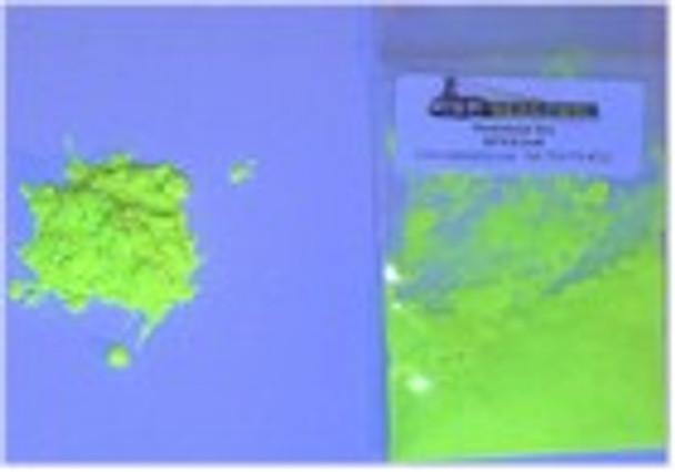 Dry UV dye under fluorescent colors.