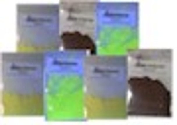 Fluorescent powders that react with black lights.