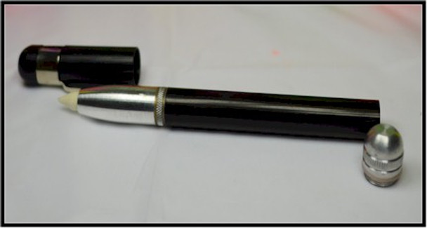 Metal pen that can be filled again and again with various inks