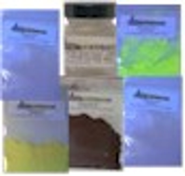 Clear blue optical brightener color kit complete.