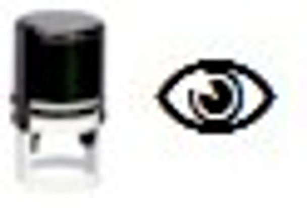 Eye image on self inking stamper