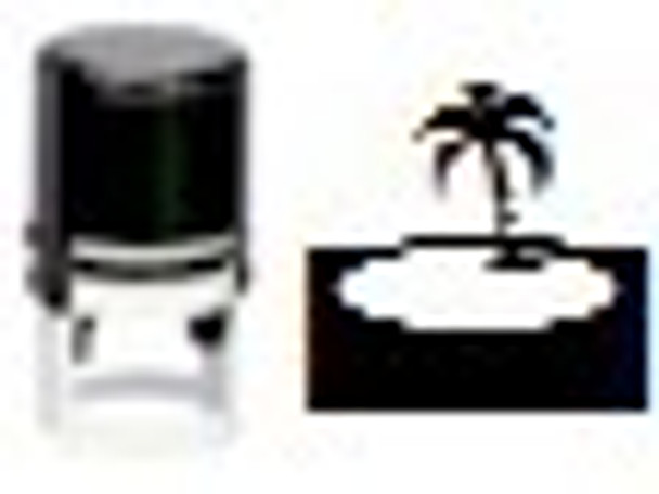 Island Round Self Inking Stamper