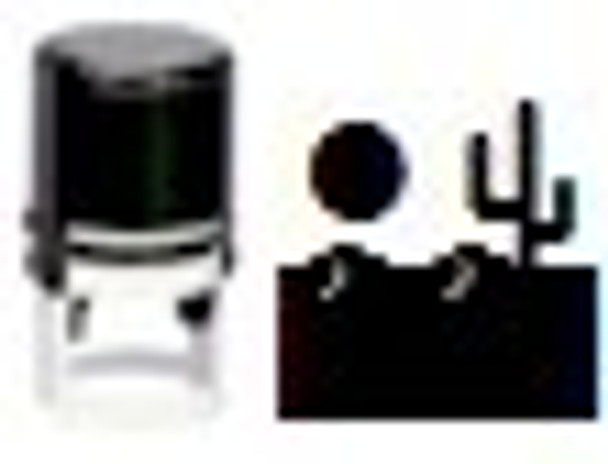 Self inking stamper with the image of a desert and saguaro cactus