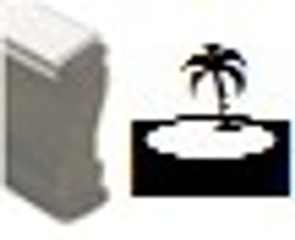Tropical island UV wood stamps