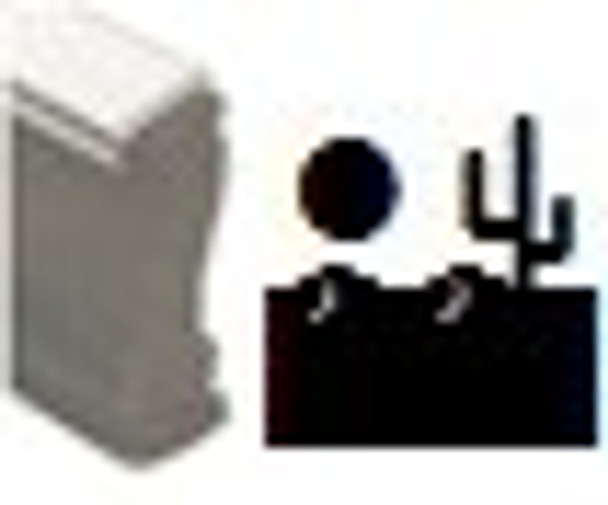Desert image wooden stamp made out of plastic but can be used for invisible marking on any surface