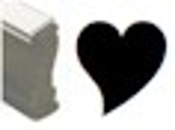 Solid hear black uv ink stamps