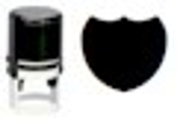 Black light uv shield stamper comes with blank pad and can be used with any stamping ink