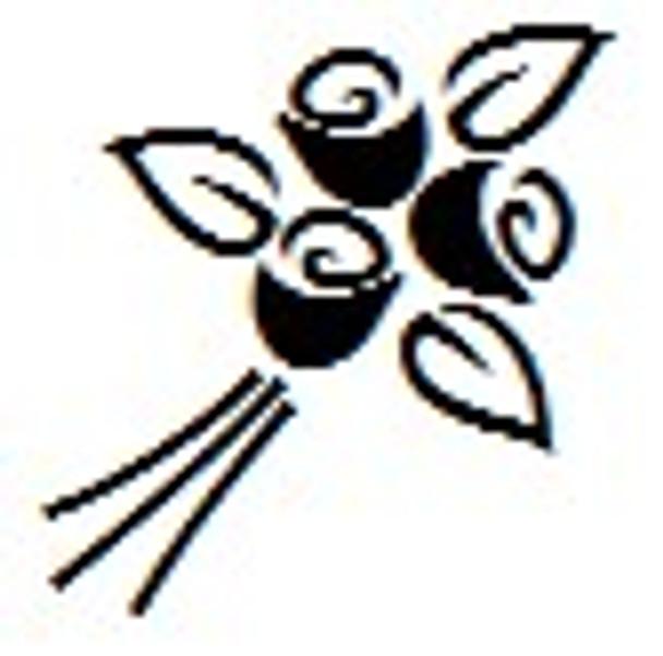 SFLOWER1RD un inked round inch uv stampers