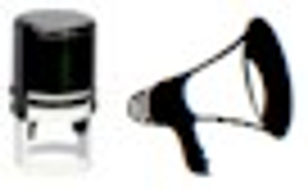 Image of a megaphone on a blank pad stamper and can be used with any ink including our IFWA series