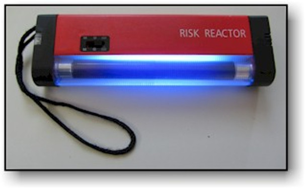 Black light to validate currency and UV ID checker.